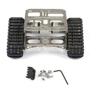 Arduino Robotics Thicked Full Metal Robot Car Chassis Track Tank For Uno Mega