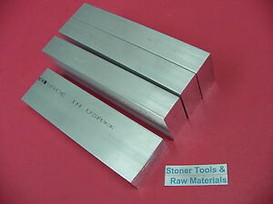 4 Pieces 1 x 2 Aluminum 6061 Rectangle Bar 4 Long Solid T6511 Plate Mill Stock