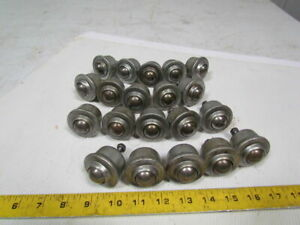 1 Ball Transfer Roller Flanged 1 4 20 Stud Mount Lot Of 20