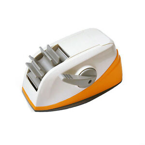 Orange Dual 2 Acrylic Sticky Tape Dispenser Core Self Auto Cutter Tape Holder