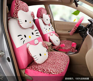 New Hello Kitty Car Seat Covers Cushion Accessories Set 18pcs Tl 5110