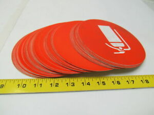 Fire Extinguisher Safety Orange Decal Label Sticker 6 Dia App Osha Lot Of 78 Pc