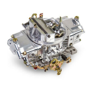 Holley Carburetor 0 4776sa 600 Cfm 4 Barrel Manual Choke Polished