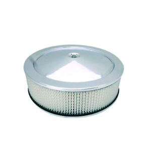 Bandit Air Cleaner Assembly 8002k Muscle Car Chrome Steel Round 14 X 4