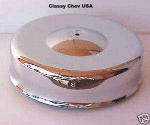 Mushroom Chrome Air Cleaner New For 4 Barrel Carb Hot Rod W Fram