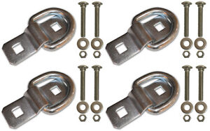 4 3 8 Stainless Steel D Ring Rope Chain Tie Down Trailer Kit With Ss Bolts