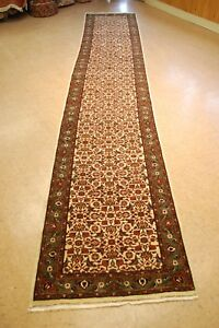 C1930s Antique Persian Bijar Runner Rug 2 6x14 Highly Detailedultra Rare Size