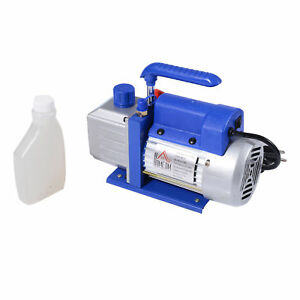Homcom 4cfm 1 3hp Vacuum Pump Single Stage Rotary Vane Deep Air Refrigerant Tool