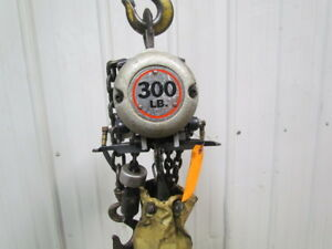 Gardner Denver 300lb Air Pneumatic Chain Hoist 10 lift Pendant Fast Tested