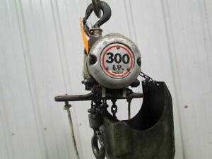 Gardner Denver Cooper 300lb Air Pneumatic Chain Hoist 14 6 lift Axial Piston
