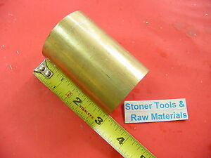 2 C360 Brass Round Rod 3 Long Solid H02 Lathe Bar Stock 2 00 Od X 3