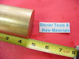 2 C360 Brass Round Rod 4 1 2 Long Solid H02 Lathe Bar Stock 2 00 Od X 4 5