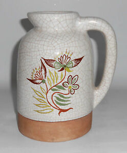 Barbara Willis Pottery Early Provincial Floral Large Jug