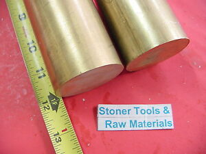 2 Pc 2 C360 Brass Round Rod 12 Long Solid 2 00 Diameter H02 Lathe Bar Stock