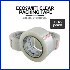 1 36 Roll Ecoswift Packing Packaging Carton Box Tape 2 0mil 2 X 110 Yard 330 Ft