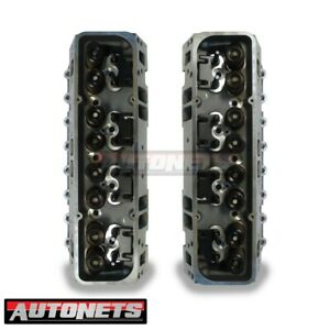 Complete Sbc Ported Aluminum Cylinder Heads Small Block Chevy 600 Lift Angle Pl