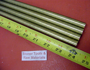 4 Pieces 1 2 C360 Brass Solid Round Rod 24 Long New Lathe Bar Stock H02 50 Od