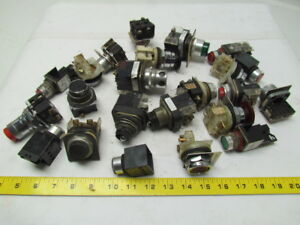 Lot Of 23 Assorted Pushbutton Switches Cnc Lathe