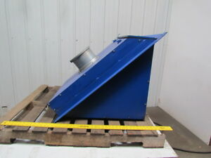 Weld Fume Backdraft Hood 8 Duct 21 Sq Louvered Inlet W 2 Removable Filters