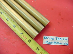 3 Pieces 7 8 C360 Brass Solid Round Rod 8 Long New Lathe Bar Stock 875 H02