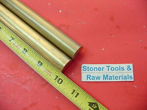 2 Pieces 7 8 C360 Brass Solid Round Rod 10 Long New Lathe Bar Stock 875 H02