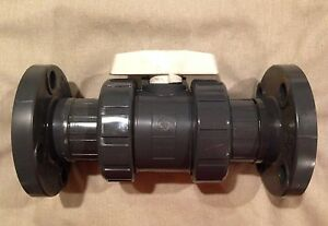 Hayward 2 Pvc Sch 80 True Union Ball Valve W fpo O Rings flange Socket new