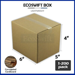 1 200 6x5x4 ecoswift Cardboard Packing Mailing Shipping Corrugated Box Cartons