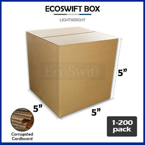 1 200 5x5x5 ecoswift Cardboard Packing Mailing Shipping Corrugated Box Cartons