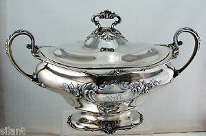 Gorham Sterling Silver Covered Soup Tureen Or Vegetable Dish C 1896