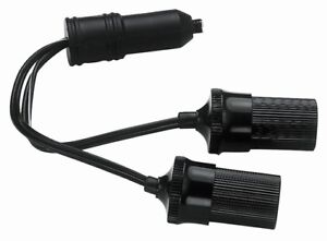 Twin Dual Car Truck 12v Cigarette Lighter Plug Socket Extension Splitter Cord