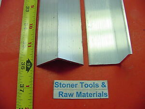 2 Pieces 1 1 2 x 1 8 Thick Aluminum 6061 Angle Bar 36 Long T6 Mill Stock