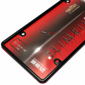 Plain Slim Thin Black Metal License Plate Tag Frame For Auto car truck