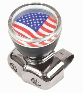 Usa American Flag Steering Wheel Spinner Suicide Knob Handle For Car Truck