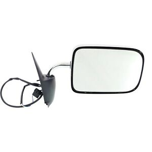 Power Mirror For 1994 1997 Dodge Ram 1500 Right Manual Fold Chrome Flat Glass