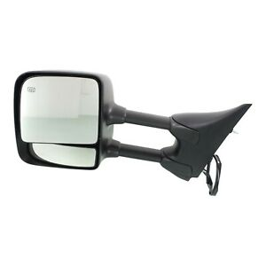 Power Towing Mirror For 2004 2015 Nissan Titan Driver Side Heated Manual Folding