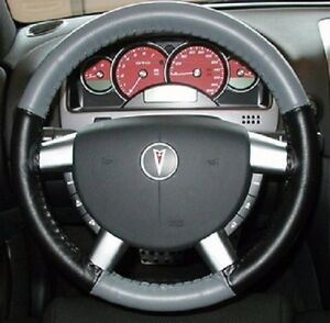 Wheelskins Leather Steering Wheel Cover Grey And Black For 2006 2010 Vw Beetle