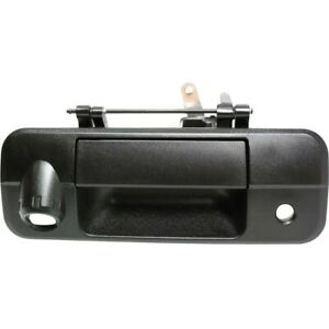 Tailgate Handle For 2007 2013 Toyota Tundra With Rear Camera Hole Textured Black