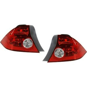 Set Of 2 Tail Light For 04 2005 Honda Civic Hx Coupe Lh Rh