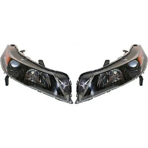 Headlight Set For 2012 2013 2014 Acura Tl Sh awd Model Left And Right Hid 2pc