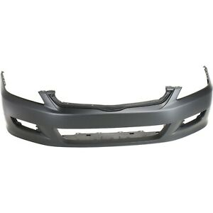 Frnt Bumper Cover For 2006 2007 Honda Accord Coupe W Fog Lamp Holes Primed Capa