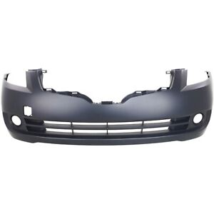Front Bumper Cover For 2007 2009 Nissan Altima Sedan W Fog Lamp Holes Primed