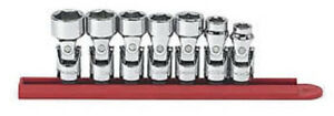 Gearwrench 80564 7 Piece 3 8 inch Drive 6 Point Flex Sae Socket Set
