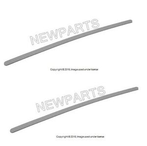 For Bmw Genuine E46 Insert Windshield Post Trim A Column Front Light Grey Set 2