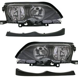 Headlight Kit For 2002 2005 Bmw 325i Left And Right 4pc
