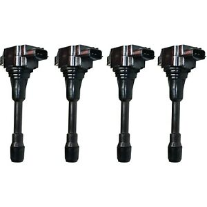 Ignition Coil Kit Set Of 4 For Altima Cube Rogue Sentra Versa 1 6l 1 8l 2 0l