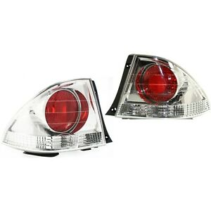 Pair Tail Light For 2002 2003 Lexus Is300 Lh Rh Outer Body Mounted Sedan