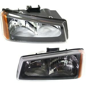 Headlight Set For 2003 06 Chevy Silverado 1500 Silverado 3500 Left