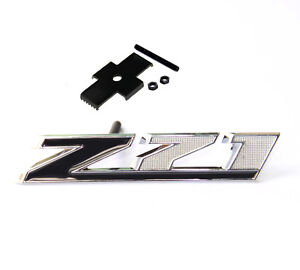 Black Genuine Grille Z71 Emblem For Gm Chevrolet Silverado Sierra Tahoe Uw New