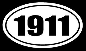 1911 Vinyl Decal Sticker Car Window Wall Bumper Gun Ammo M1911 Acp 45 Miliary
