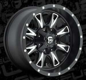 Fuel Throttle D513 18x10 6x135 6x5 5 Et 24 Black Wheels Rims Set Of 4